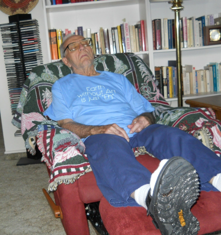 Art asleep in chair 001