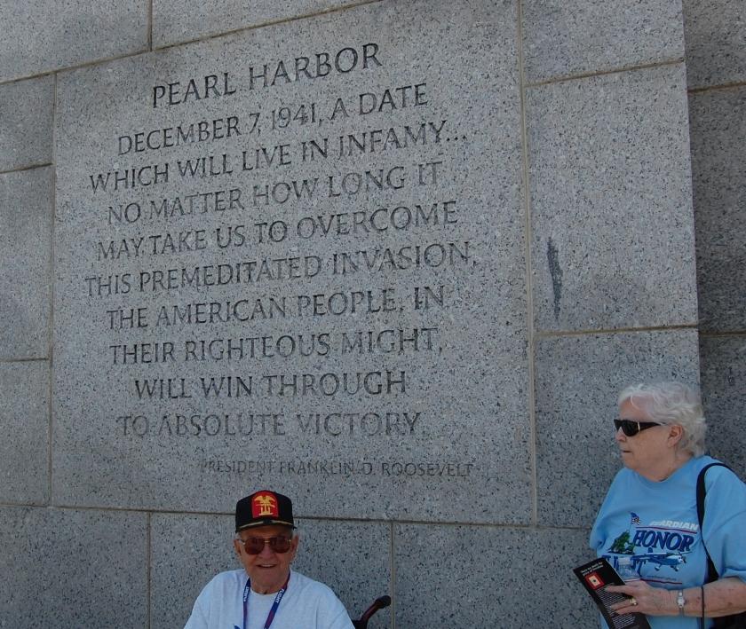 Pearl Harbor at WWII mem Art Gay & Me