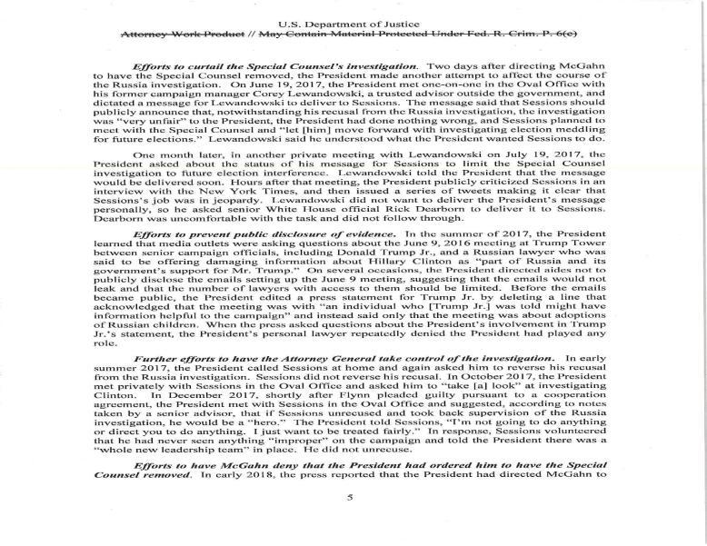 Mueller report vol 2 p 5
